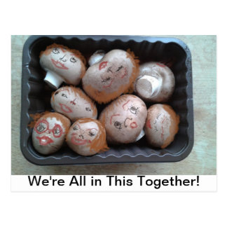 Postcard - We're All in This Together - Mushrooms