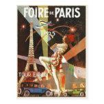 Postcard with 1920's Paris Art Deco Print