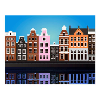 Postcard with Amsterdam