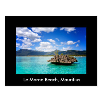 Postcard With Beach Of Mauritius Theme