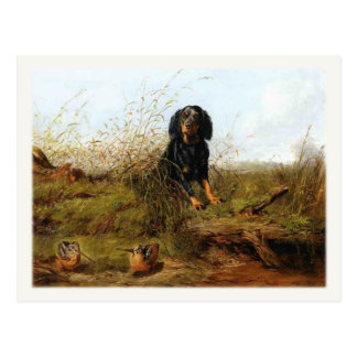 Postcard With Cocker Spaniel Painting
