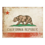 Postcard with Cool California Flag