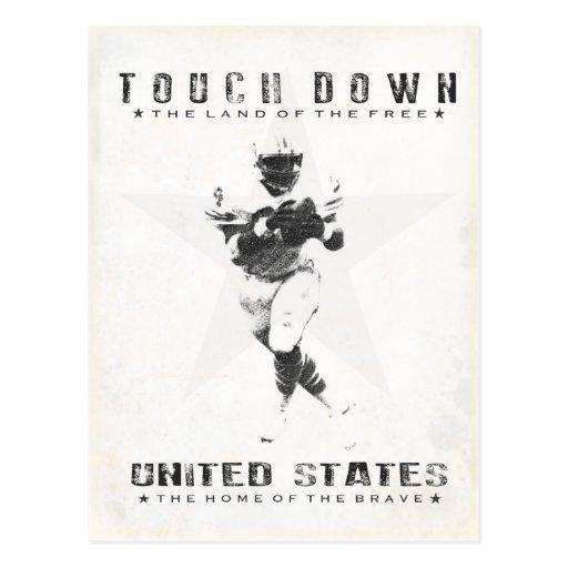 Postcard with Cool Football Print