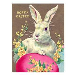 Postcard with Cute Little Easter Bunny