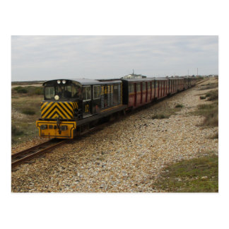 Postcard With Diesel Train At Dungeness