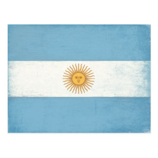 Postcard with Distressed Flag from Argentina