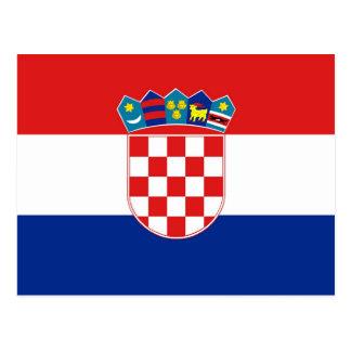 Postcard with Flag of Croatia