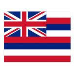 Postcard with Flag of Hawaii State - USA