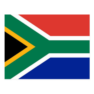 Postcard with Flag of South Africa