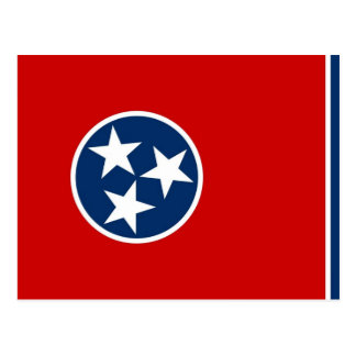 Postcard with Flag of Tennessee State - USA