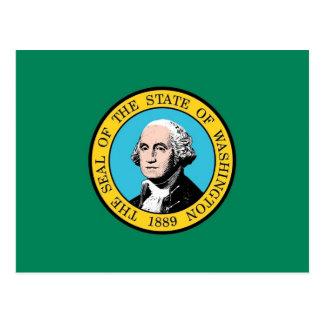 Postcard with Flag of Wasington State - USA