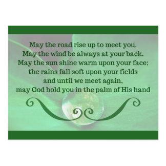 Postcard with Irish Blessing