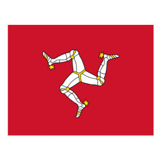 Postcard with Isle of Man Flag, UK