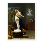 Postcard with Jean-Leon Gerome Painting