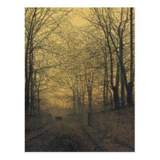 Postcard With John Atkinson Grimshaw Painting