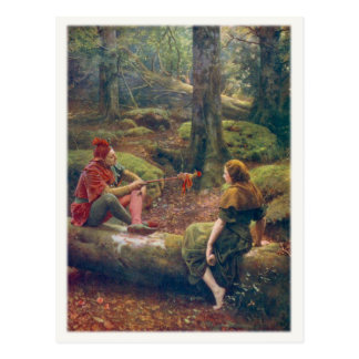 Postcard With John Collier Painting