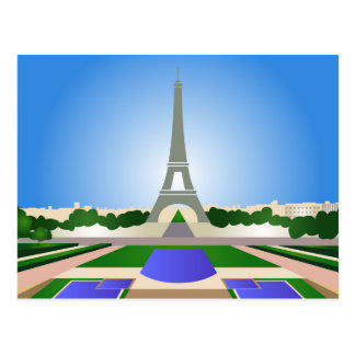 Postcard with Paris cartoon