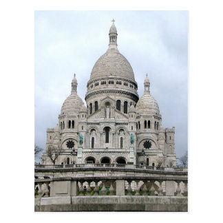Postcard with Sacre Coeur de Paris.