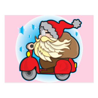 Postcard with Santa Claus