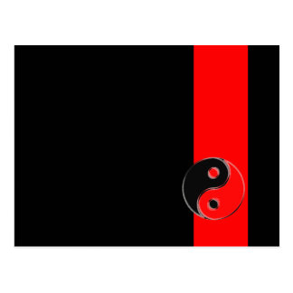 Postcard Yin Red Yang Black/
