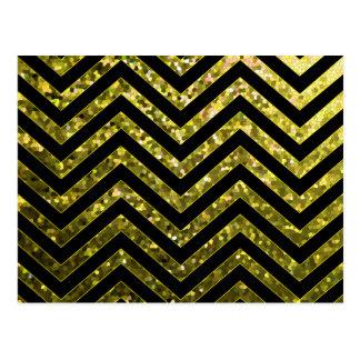 Postcard Zig Zag Sparkley Texture