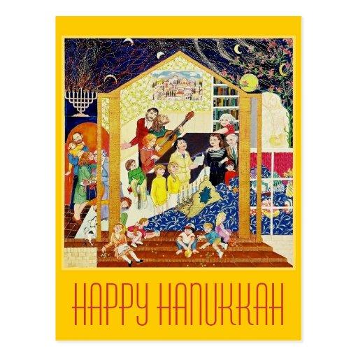 PostcardART. HAPPY HANUKKAH Post Card