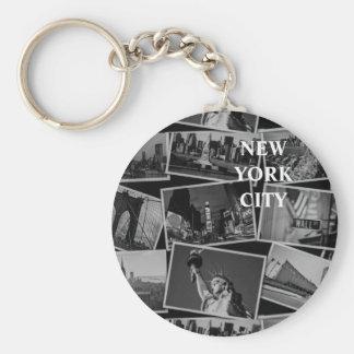Postcards from NY keychain
