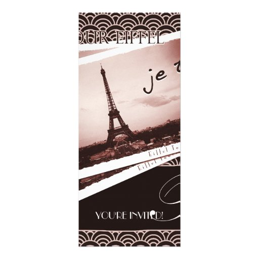 Postcards from Paris Farewell Party Invitation
