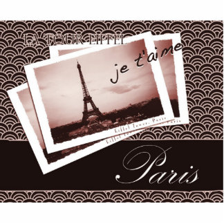 Postcards from Paris Photo Sculpture Key Ring