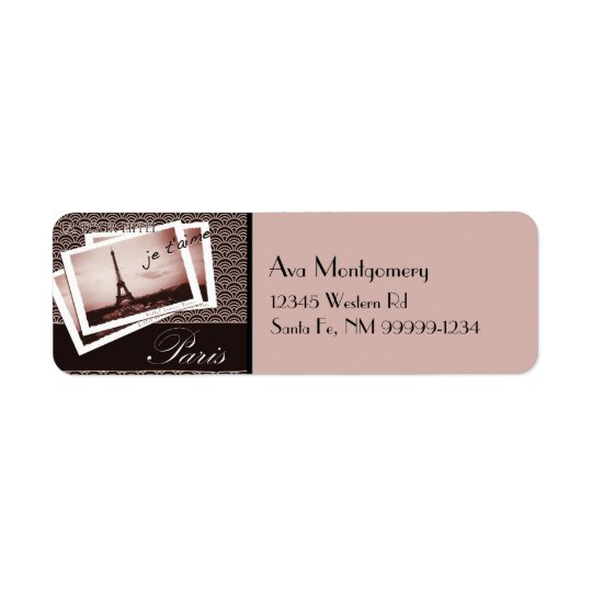 Postcards from Paris Return Address Label