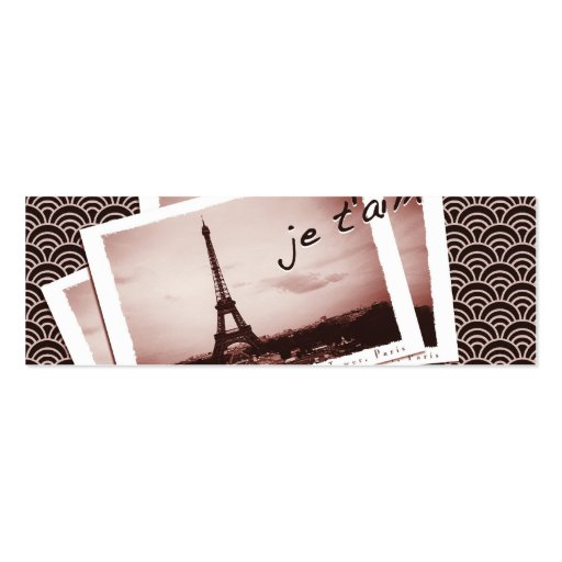 Postcards from Paris Tiny Wedding Website Cards Business Card