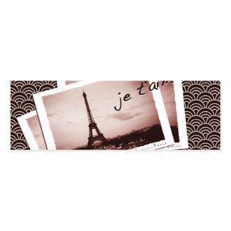 Postcards from Paris Tiny Wedding Website Cards Pack Of Skinny Business Cards