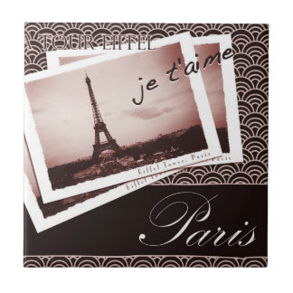 Postcards from Paris Vintage Design Tile