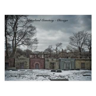 Postcards Graceland Cemetery - Chicago Novembe