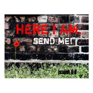 Postcards; Here I am send me Postcard