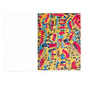 Postcards, with colorful abstract designs postcard