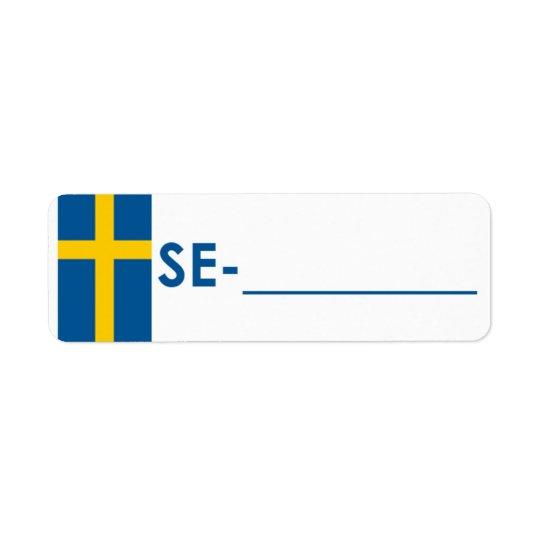 "Postcrossing ID Label Sweden ""Flag Style"" Return Address Label"