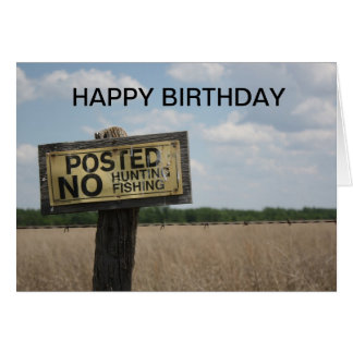 Posted Sign BIRTHDAY CARD