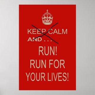 "Poster - 12"" x 18"" - Keep Calm and . . . Run"