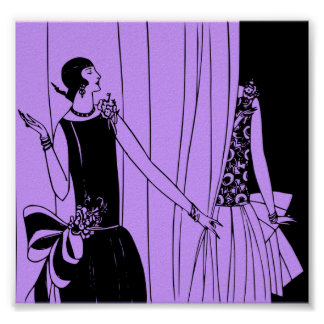 Poster, 1920 Art Deco Fashion Poster