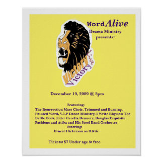 poster 2, Word, Alive, Drama Ministrypresents:,...