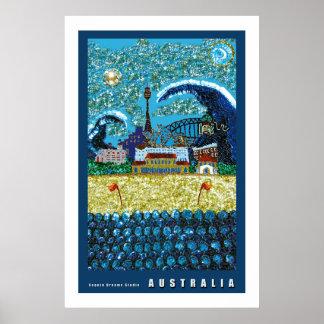 Poster 36  x 24 inch Luna Bondi Beach Australia