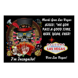 "Poster 40"" X 60""  Las Vegas Mardi Gras"