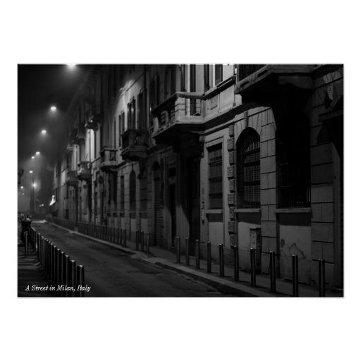 Poster: A Street in Milan, Italy