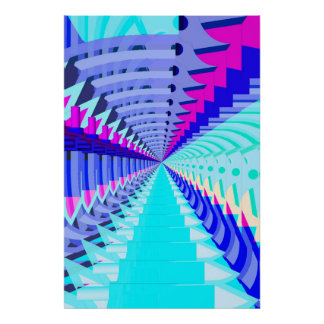 Poster: Abstract / Psychedelic Radial Pattern Poster