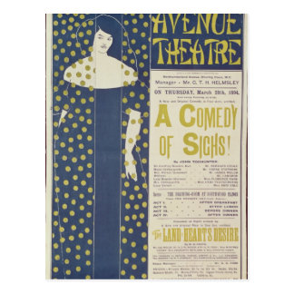 Poster advertising A Comedy of Sighs Postcard