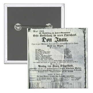 Poster advertising a performance of 'Don Juan' 15 Cm Square Badge