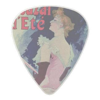 "Poster advertising ""Alcazar d'Ete"" Acetal Guitar Pick"