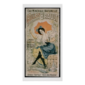Poster advertising 'Brault Natural Mineral Water f