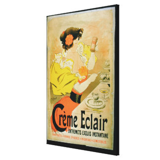 Poster advertising 'Creme Eclair Instant Dessert' Canvas Print